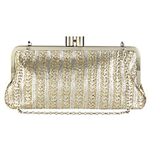 Buy Oasis Carmen Frame Clutch, Silver/Gold Online at johnlewis.com