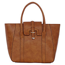 Buy Warehouse Metal Keepers Day Bag, Brown Online at johnlewis.com