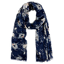Buy Oasis Fan Flower Scarf, Blue Online at johnlewis.com
