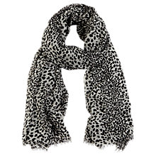 Buy Oasis Dalmation Print Scarf, Black/White Online at johnlewis.com