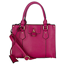 Buy Oasis Tamsin Mini Triple Compartment Handbag, Bright Pink Online at johnlewis.com