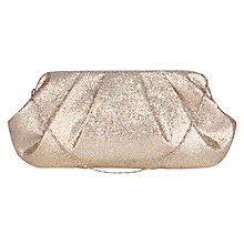 Buy Oasis Clair Sparkle Clutch Handbag, Silver Online at johnlewis.com