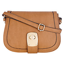 Buy Oasis Danielle Saddle Bag, Tan Online at johnlewis.com