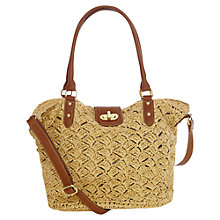 Buy Oasis Caroline Crochet Shopper Bag, Tan/Neutral Online at johnlewis.com