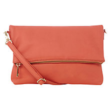 Buy Oasis Celeste Foldover Clutch Bag, Orange Online at johnlewis.com