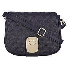 Buy Oasis Chelsie Quilted Saddle Bag, Navy Online at johnlewis.com
