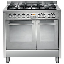 Buy Hotpoint EG902GXS Dual Fuel Range Cooker, Stainless Steel Online at johnlewis.com