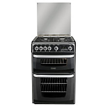Buy Hotpoint Cannon CH60GCIK Gas Cooker, Black Online at johnlewis.com