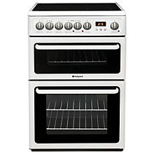Buy Hotpoint HAE60PS Electric Cooker, White Online at johnlewis.com