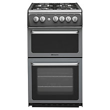 Buy Hotpoint HAG51G Gas Cooker, Graphite Online at johnlewis.com