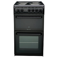 Buy Hotpoint HW170EKS Electric Cooker, Black Online at johnlewis.com