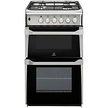 Buy Indesit IT50G1XX Gas Cooker, Inox Online at johnlewis.com