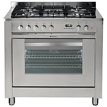 Buy Hotpoint EG900XS Dual Fuel Range Cooker, Stainless Steel Online at johnlewis.com