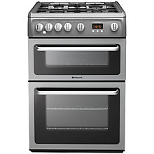 Buy Hotpoint HAG60G Gas Cooker, Graphite Online at johnlewis.com
