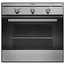 Buy Indesit FIM21KBIX Single Electric Oven, Inox Online at johnlewis.com