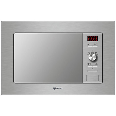 Buy Indesit MWI 122.1XUK Built-In Microwave with Grill, Stainless Steel Online at johnlewis.com