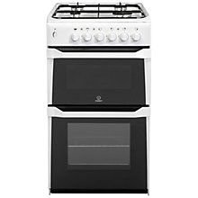 Buy Indesit IT50LW Gas Cooker, White Online at johnlewis.com