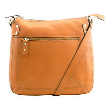 Buy John Lewis Carlyle Large Leather Across Body Bag, Black Online at johnlewis.com