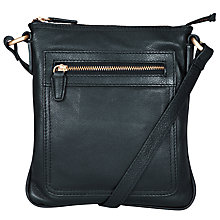 Buy John Lewis Carlyle Small Leather Across Body Bag, Navy Online at johnlewis.com