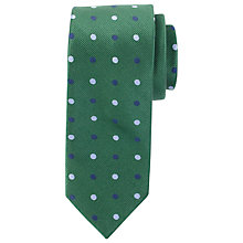Buy Paul Costelloe Matt Large Dot Tie, Green Online at johnlewis.com