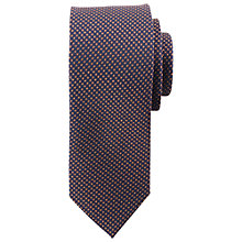 Buy Paul Costelloe Micro Diamond Tie, Navy/Brown Online at johnlewis.com