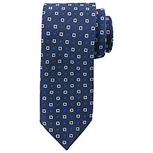Buy Paul Costelloe Square Dot Tie, Navy/Blue Online at johnlewis.com