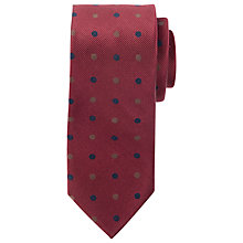 Buy Paul Costelloe Matt Large Dot Tie, Burgundy Online at johnlewis.com