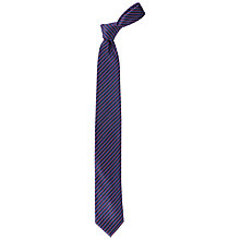 Buy Paul Costelloe Fine Stripe Tie, Blue/Burgundy Online at johnlewis.com