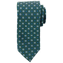 Buy Paul Costelloe Square Dot Tie, Bottle Green/Blue Online at johnlewis.com