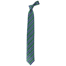 Buy Paul Costelloe Grid Stripe Satin Tie, Green/Navy Online at johnlewis.com