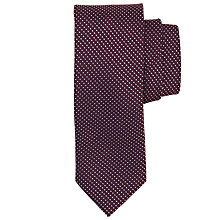 Buy Paul Costelloe Micro Diamond Tie, Burgundy/White Online at johnlewis.com