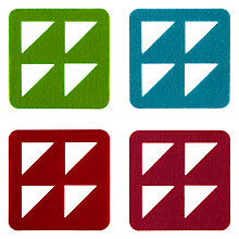 Buy House by John Lewis Felt Coasters, Set of 4 Online at johnlewis.com