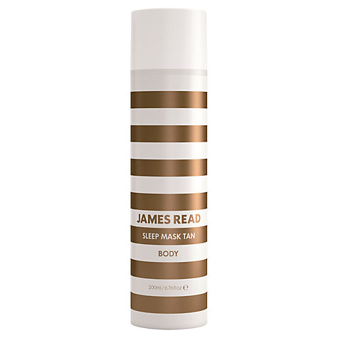 Buy James Read Sleep Mask Body Tan, 200ml Online at johnlewis.com