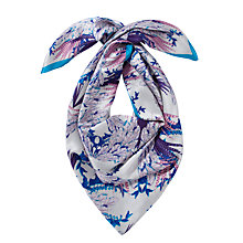 Buy COLLECTION by John Lewis Oriental Floral Print Silk Scarf, Multi Online at johnlewis.com