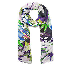 Buy COLLECTION by John Lewis Painted Floral Print Scarf, Multi Online at johnlewis.com