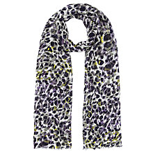 Buy COLLECTION by John Lewis Animal Print Scarf, Purple / Black Online at johnlewis.com
