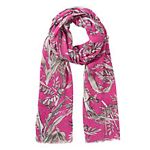Buy Somerset by Alice Temperley Bird Print Crepe Scarf, Pink Online at johnlewis.com