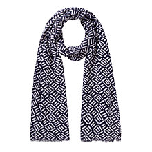 Buy COLLECTION by John Lewis Parque Print Scarf, Navy Online at johnlewis.com