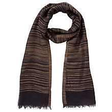 Buy Collection by John Lewis Linea Striped Rectangular Scarf, Black Online at johnlewis.com