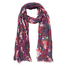 Buy Collection WEEKEND by John Lewis Rose Bud Floral Rectangular Scarf, Red Online at johnlewis.com