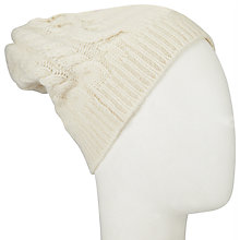 Buy John Lewis Cashmere Cable Beanie Hat, One Size Online at johnlewis.com