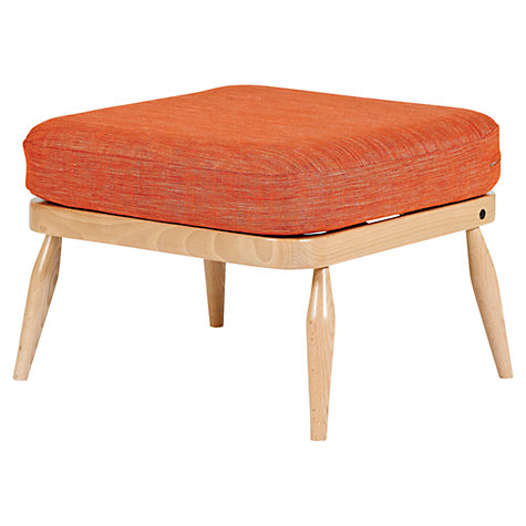 Buy ercol Windsor 206 Footstool, Cayenne Orange Online at johnlewis.com