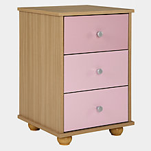 Buy little home at John Lewis Corey 3 Drawer Bedside Cabinet Online at johnlewis.com