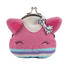 Buy John Lewis Cat Purse, Pink Online at johnlewis.com
