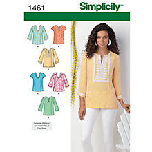 Buy Simplicity Tops Sewing Pattern, 1461 Online at johnlewis.com