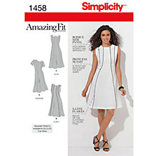 Buy Simplicity Amazing Fit Dress Sewing Pattern, 1458 Online at johnlewis.com