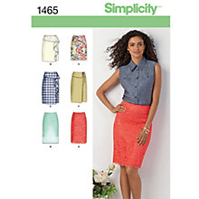 Buy Simplicity Women's Skirt Sewing Pattern, 1465 Online at johnlewis.com