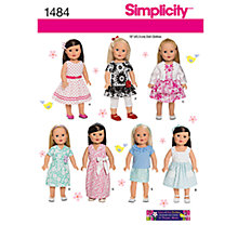Buy Simplicity Craft Doll Clothes Sewing Pattern, 1484 Online at johnlewis.com