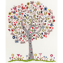 Buy Bothy Threads Love Tree Cross Stitch Kit Online at johnlewis.com