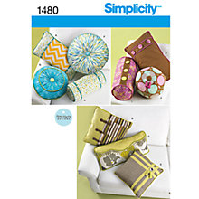 Buy Simplicity Home Patty Martin Cushion Sewing Pattern, 1480 Online at johnlewis.com